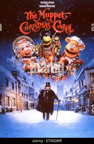 MISS PIGGY TINY TIM & KERMIT THE FROG THE MUPPET CHRISTMAS CAROL Stock Photo, Royalty Free Image ...