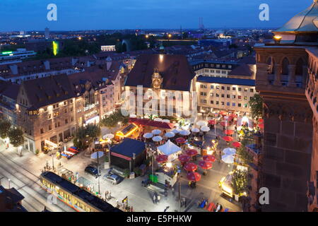 Festival of Wine in the Market Place and Town Hall, Heilbronn, Baden Wurttemberg, Germany, Europe - Stock Photo