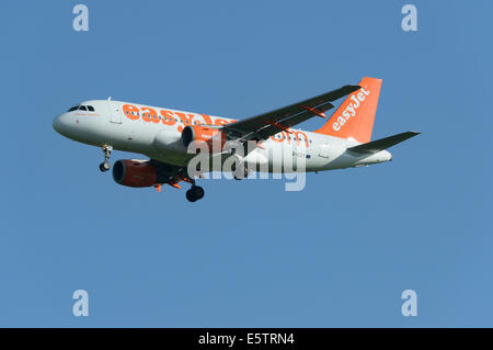 EasyJet Airbus A319-100 on final approach - Stock Photo