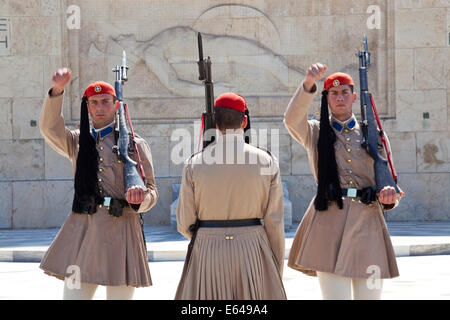 Changing of the guard at Syntagma square, Athens, Greece ...