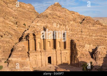 Monastery (Al-Deir), Petra, Jordan - Stock Photo