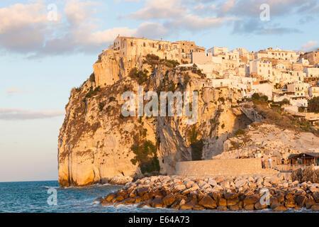 Coastal village of Peschici, Promontorio del Gargano, Puglia, Italy - Stock Photo