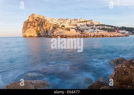 Peschici, Gargano Peninsula, Apulia, Puglia, Southern Italy - Stock Photo