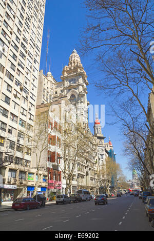 May Avenue on Sept 13, 2012 in Buenos Aires, Argentina. Street connects the pink house with the Congress, - Stock Photo