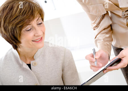 meeting,conversation,dictation,business woman - Stock Photo