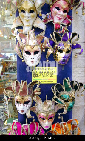 Venetian masks on sale in Venice, Italy - Stock Photo