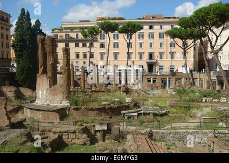 Largo Argentina Rome archaeological remains Italy - Stock Photo
