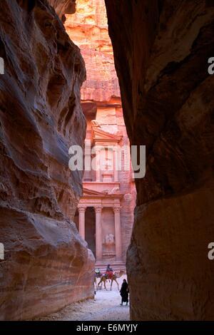 Siq, Petra, Jordan, Middle East - Stock Photo