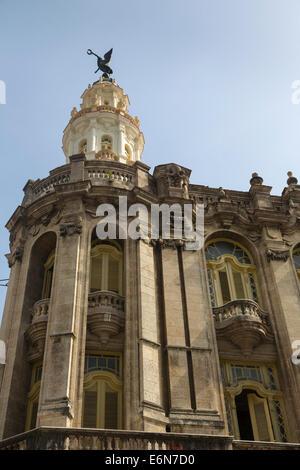detail, Gran Teatro de La Habana, Havana, Cuba - Stock Photo