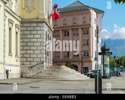 Town hall, Hotel de Ville, in Albertville, Savoie, Rhone Alpes, France - Stock Photo