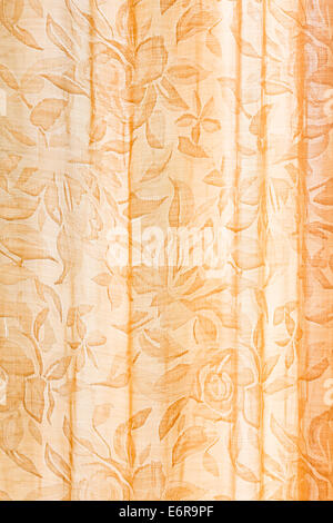 front curtain with floral elements - Stock Photo