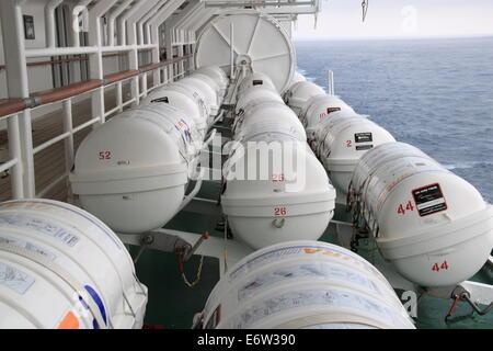Life Rafts On Cruise Ship Stock Photo Royalty Free Image