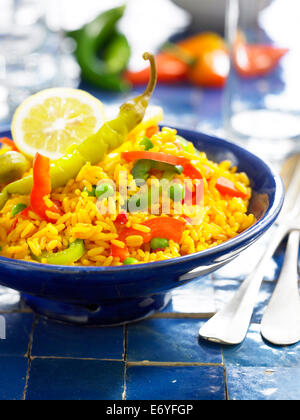 Spanish-style rice - Stock Photo