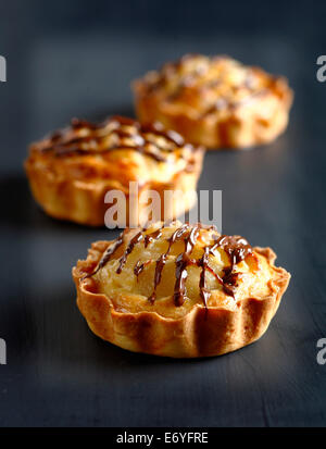 Pear-choclate tartlets - Stock Photo