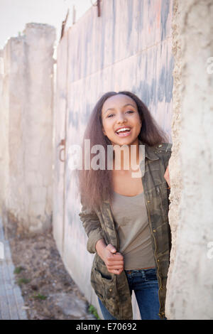 Happy teenage girl - Stock Photo