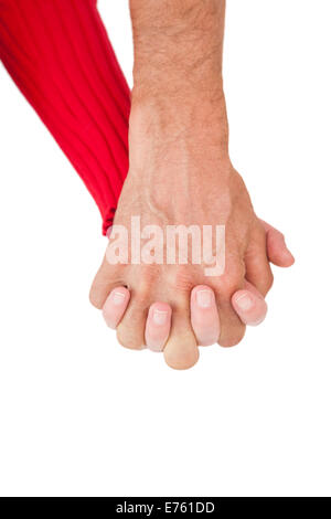 Close up of holding hands - Stock Photo