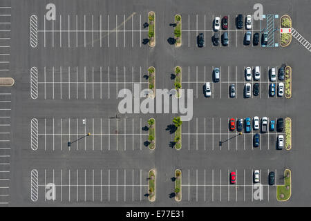 Aerial View Of Parking Lot Abstract - Stock Photo