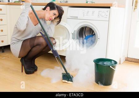 washing machine flooded