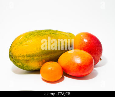 Tropical fruits composition - Stock Photo