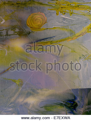 Nice Watercolor and pastel painting on canvas - Stock Photo