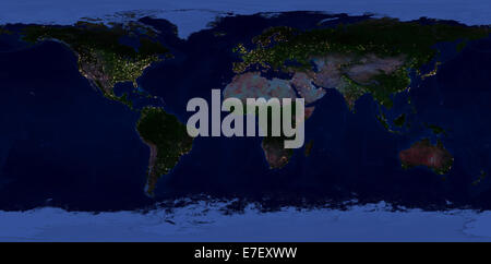 Extra large size physical world map night view of the earth with extra large size physical world map night view of the earth with glowing lights of gumiabroncs Gallery