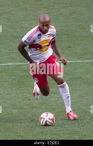 This image shows New York Red Bulls captain Thierry Henry during a friendly match up between ArsenalFC and New York - Stock Photo
