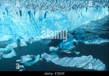 Perito Moreno, Glacier, Lago Argentino, Patagonia, Argentina - Stock Photo