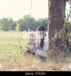 child explores the world - Stock Photo
