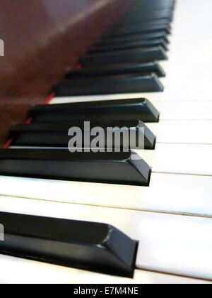 Close up shot of Piano keys - Stockfoto