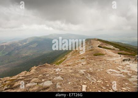 Polish Mountains expanse view from in Babia Gora - Stock Photo