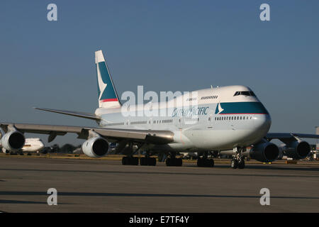 CATHAY PACIFIC BOEING 747 - Stock Photo