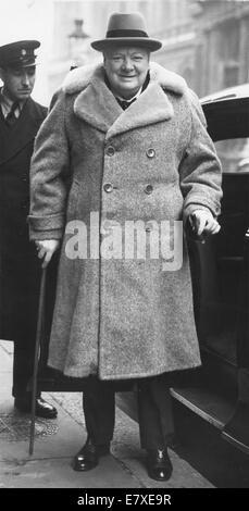 January 24, 1965 - Sir WINSTON CHURCHILL (November 30, 1874 - January 24, 1965) was Prime Minister of the United - Stock Photo