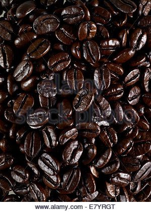 roasted coffee beans, - Stock Photo