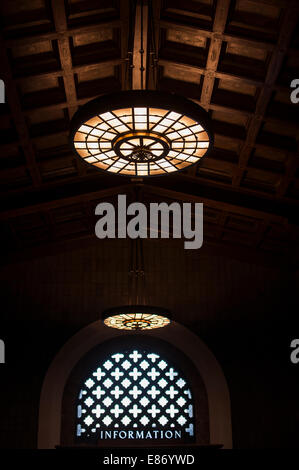 Information sign, Union Station Los Angeles, United States of America - Stock Photo