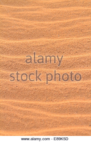 Close-up of rippled sand - Jordan - Stock Photo