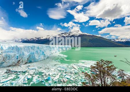 Perito Moreno Glacier in the Los Glaciares National Park, Argentina. - Stock Photo