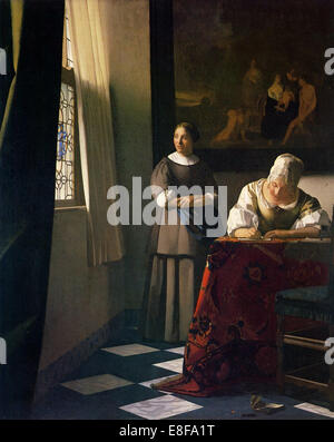 Johannes Vermeer Paints Lady Writing a Letter with her Maid