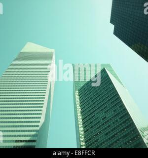 Skyscrapers on Lexington Avenue, Manhattan, New York, America, USA - Stock Photo