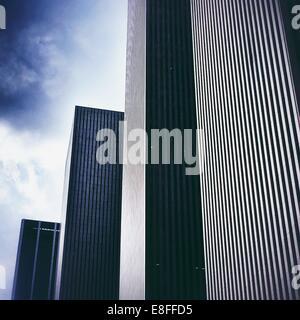 Rows of skyscrapers, Rockefeller Center, Manhattan, America, USA - Stock Photo