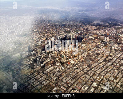 USA, California, Los Angeles, Aerial view of downtown - Stock Photo
