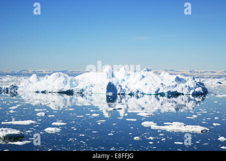 Greenland, Landscape with icebergs - Stock Photo