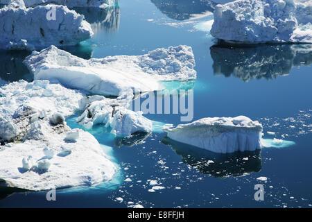 Greenland, Close-up if iceberg - Stock Photo