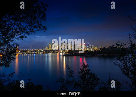 Australia, New South Wales, Sydney, Cityscape at twilight - Stock Photo