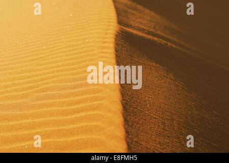Ridge of sand dune, Namibia - Stock Photo
