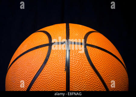 Close up of basketball - Stock Photo