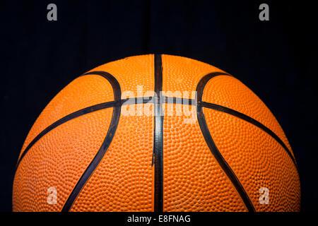 Close up of basketball - Stock Photo