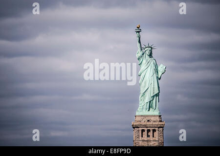 USA, New York State, New York City, Statue Of Liberty - Stock Photo