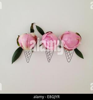 Conceptual ice-cream cones - Stock Photo