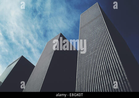 USA, New York City, Manhattan, Skyscrapers - Stock Photo