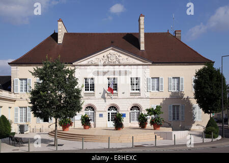 Town Hall Hotel de Ville at Nuits Saint Georges France Europe - Stock Photo